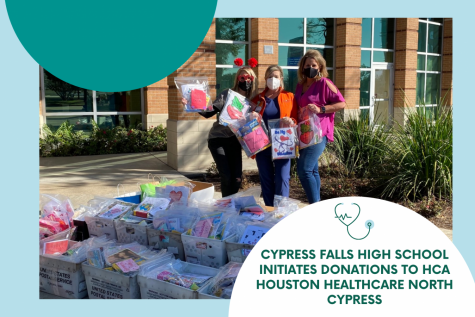Cypress Falls High School Initiates Donations to HCA Houston Healthcare North Cypress